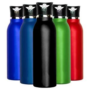 Millenti Stainless Steel 21oz Powder Coated Water Bottles - Black