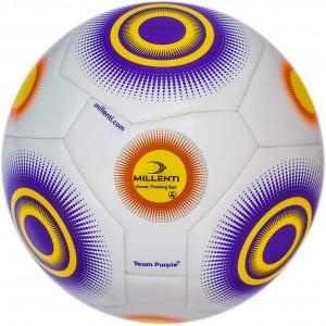 Team Training Soccer Ball Size 5 Purple